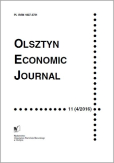 Olsztyn Economic Journal 11 (4/2016), 2016