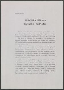 Bukwałd w 1972 roku : rysunki i różności