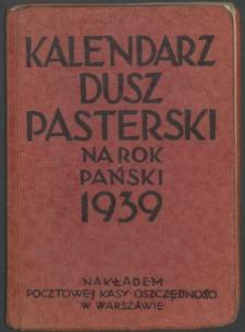 Kalendarz duszpasterski na rok Pański 1939