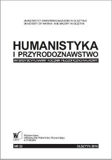 Humanistyka i Przyrodoznawstwo 22, 2016