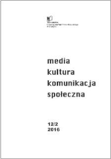 Media, Kultura, Komunikacja społeczna 12/2 (2016)