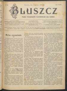 Bluszcz : pismo tygodniowe ilustrowane dla kobiet, 1907 R. 43, nr 28