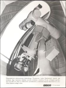 [Teleskop w obserwatorium astronomicznym olsztyńskiego Planetarium Lotów Kosmicznych]