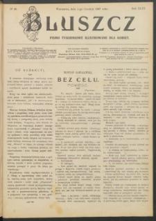 Bluszcz : pismo tygodniowe ilustrowane dla kobiet, 1907 R. 43, nr 48 + Dodatek