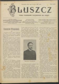 Bluszcz : pismo tygodniowe ilustrowane dla kobiet, 1907 R. 43, nr 49