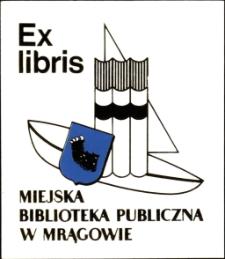 Exlibris Miejskiej Biblioteki Publicznej w Mrągowie