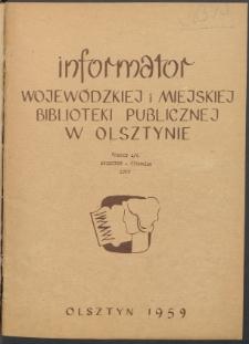 Informator Wojewódzkiej i Miejskiej Biblioteki Publicznej w Olsztynie, 1959, z. 2