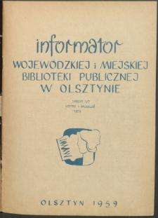Informator Wojewódzkiej i Miejskiej Biblioteki Publicznej w Olsztynie, 1959, nr 3