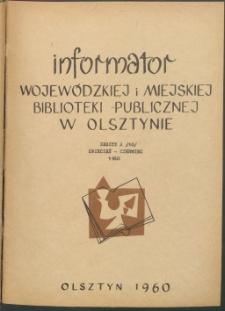 Informator Wojewódzkiej i Miejskiej Biblioteki Publicznej w Olsztynie, 1960, z. 2