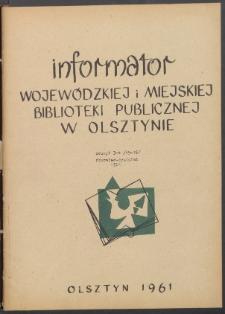 Informator Wojewódzkiej i Miejskiej Biblioteki Publicznej w Olsztynie, 1961, z. 3-4
