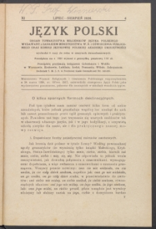 Język Polski, 1926, nr 4
