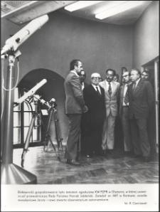 [Wizyta Henryka Jabłońskiego w olsztyńskim Obserwatorium Astronomicznym]