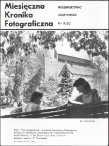 """[Strona tytułowa """"Miesięcznej Kroniki Fotograficznej : województwo olsztyńskie"""" nr 9/80]"""