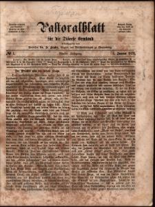 Pastoralblatt für die Diözese Ermland, 1873, nr 1