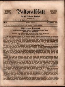 Pastoralblatt für die Diözese Ermland, 1873, nr 4
