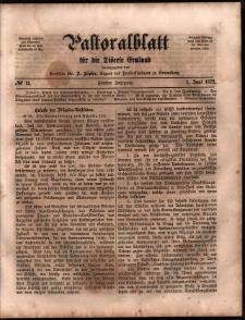 Pastoralblatt für die Diözese Ermland, 1873, nr 11