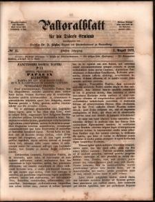 Pastoralblatt für die Diözese Ermland, 1873, nr 15