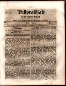 Pastoralblatt für die Diözese Ermland, 1874, nr 3