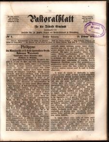 Pastoralblatt für die Diözese Ermland, 1874, nr 4