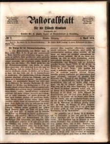 Pastoralblatt für die Diözese Ermland, 1874, nr 7