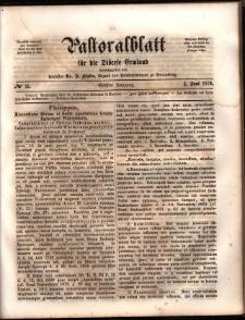 Pastoralblatt für die Diözese Ermland, 1874, nr 11