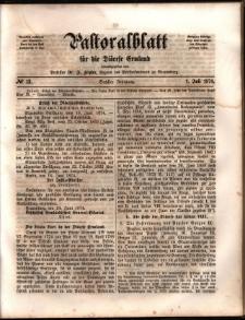 Pastoralblatt für die Diözese Ermland, 1874, nr 13