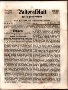 Pastoralblatt für die Diözese Ermland, 1874, nr 17-18