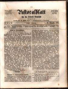 Pastoralblatt für die Diözese Ermland, 1874, nr 21-22