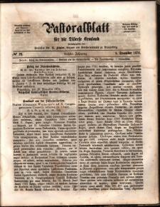 Pastoralblatt für die Diözese Ermland, 1874, nr 23