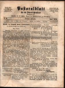 Pastoralblatt für die Diözese Ermland, 1875, nr 6