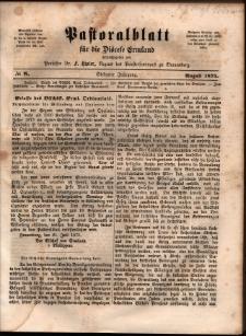Pastoralblatt für die Diözese Ermland, 1875, nr 8