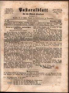 Pastoralblatt für die Diözese Ermland, 1875, nr 11