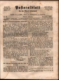 Pastoralblatt für die Diözese Ermland, 1875, nr 12