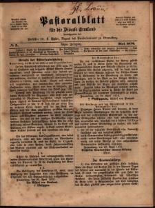 Pastoralblatt für die Diözese Ermland, 1876, nr 5