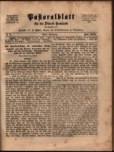 Pastoralblatt für die Diözese Ermland, 1876, nr 7