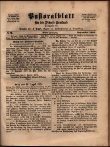 Pastoralblatt für die Diözese Ermland, 1876, nr 9