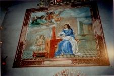 [Fresk przedstawiający św. Cecylię z kościoła pw. św. Józefa w Kobułtach]