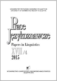Prace Językoznawcze XVII/4, 2015