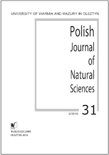 Polish Journal of Natural Sciences 31 (2/2016)
