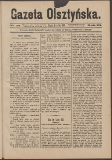 Gazeta Olsztyńska, 1888, nr 24