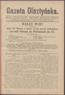Gazeta Olsztyńska, 1889, nr 6