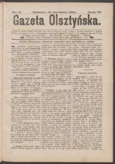 Gazeta Olsztyńska, 1891, nr 3