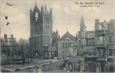 Aus den Kämpfen um Lyck. Zerstörte Kirche in Lyck