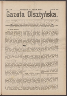 Gazeta Olsztyńska, 1891, nr 42