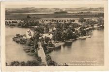 Lyck, Masurens Hauptstadt, Blick zur Schlossinsel und nach der Bunelka