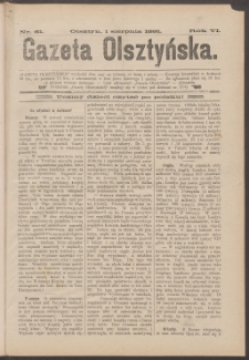 Gazeta Olsztyńska, 1891, nr 61
