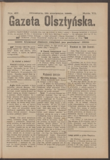 Gazeta Olsztyńska, 1891, nr 67