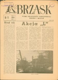 Brzask : pismo młodzieży harcerskiej Warmii i Mazur, 1958 (R. 2), nr 11