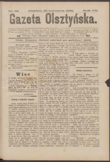 Gazeta Olsztyńska, 1892, nr 33