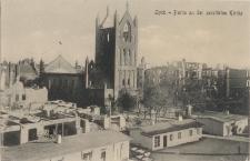 Lyck - Partie an der zerstörten Kirche